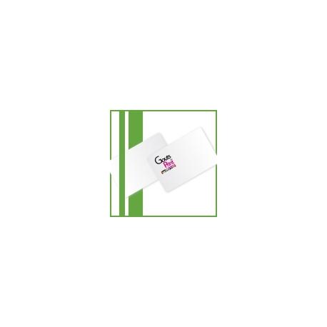 Pelliculé recto/verso carte simple, 8,5x5,4 cm