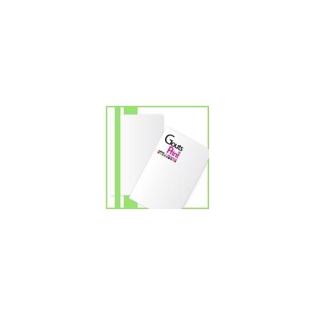 Pelliculé recto/verso carte simple, 8,2x12,8 cm